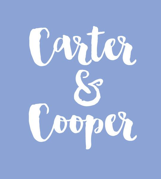 Carter & Cooper - Baby Names That Are Perfect for Twins - Photos