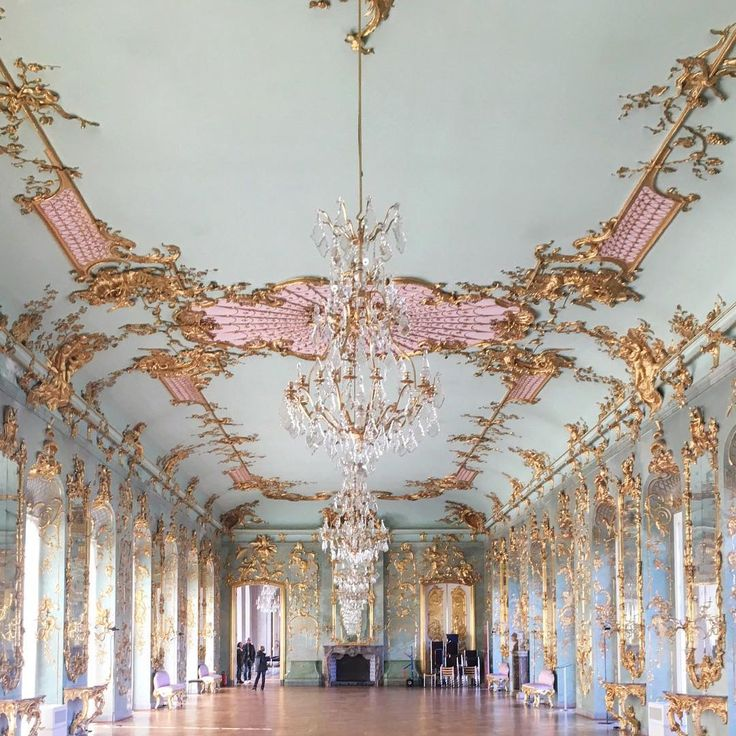 Someday, I want to dance in a ballroom with my love ~ how beautiful. Charlottenburg Palace ~ Berlin ~ Germany
