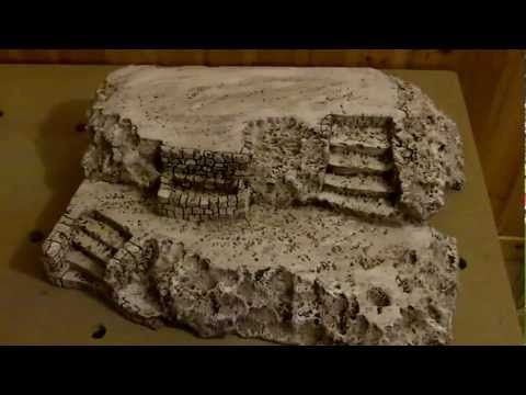 How to make polystyrene rocks - YouTube - I think I would use several spray paint colors like in other videos that I have seen.