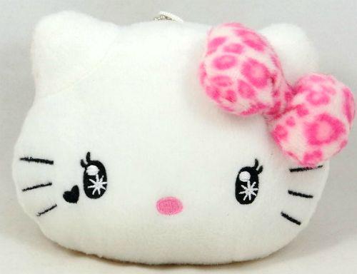 Hello Kitty face plush pillow