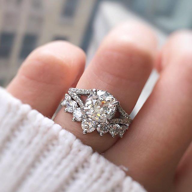 Diamante antiguo de 1,66 quilates tallado en mina    – Rings ♡