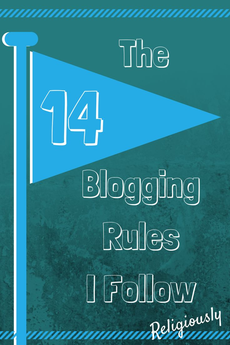 Whether you are a beginner or a long time blogging veteran, here are the 14 blogging rules according to Fabulous Blogging!