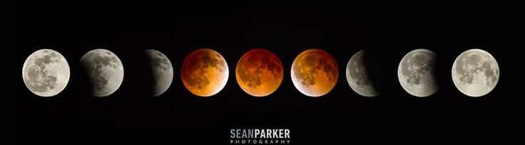 Total Lunar Eclipse by Sean Parker, via 500px