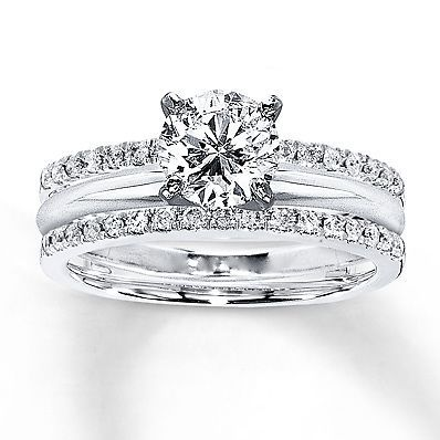 Solitaire 0.25ct White Diamond Enhancer Engagement Ring Wrap 10K White Gold