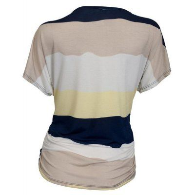 Casual Round Neck Striped Women's Plus Size T-Shirt #jewelry, #women, #men, #hats, #watches, #belts, #fashion