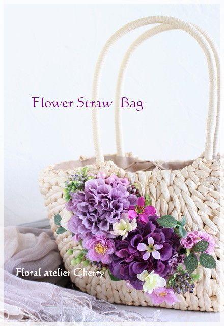 紫が大好きな方の<花カゴバッグ>。。♪|大阪/岸和田 <お花のアトリエ Cherry>・桜子花日記