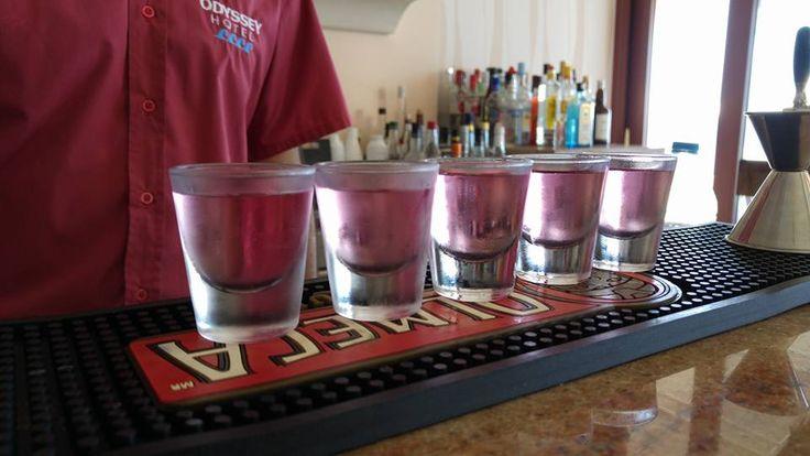 Drinks, Mnistires Bar Restaurant, Agia Efimia, Kefalonia, Greece
