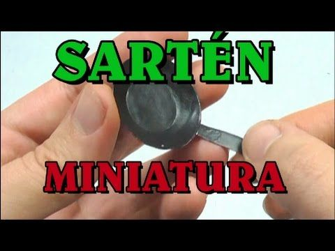 Miniature frying pan - easy - in Spanish - could use same technique to make plates