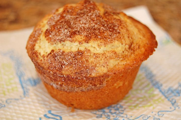All the scrumptiousness of a snickerdoodle cookie baked into a muffin.