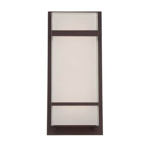 Modern Forms WS-W1616 Phantom 1 Light LED ADA Compliant Outdoor Wall Sconce - 7 Inches Wide (Pewter Finish), Grey (Aluminum)