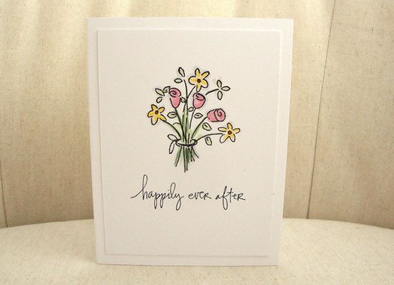 Happily Ever After Wedding Card Bride and by ThePaperMenagerie