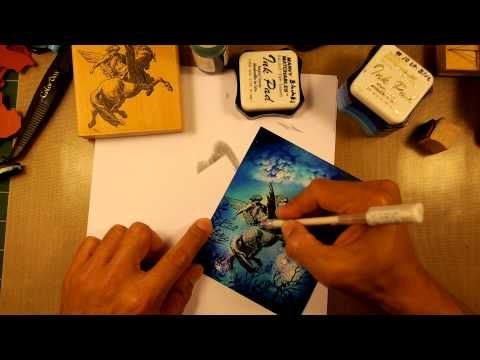 Stampscapes 101: Video 49. Winged Star Dancer. - YouTube