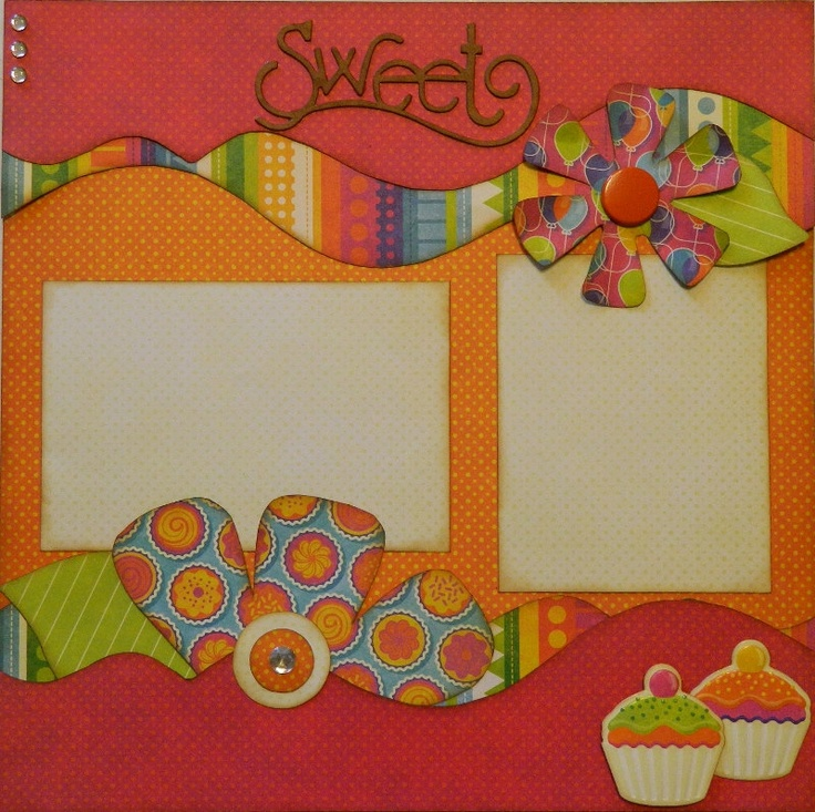 Sweet - 12x12 Premade 1 Page Layout. $9.95, via Etsy.