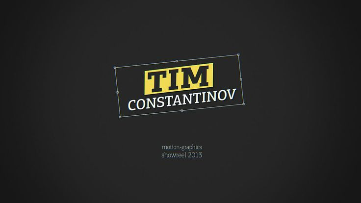 Tim Constantinov // Motion-Graphics Showreel 2013