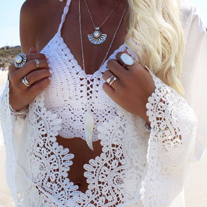 Pas cher Femmes Wanita Crochet Antik Crop Tops Baru Musim Panas camisoles Sexy Berongga Keluar Renda Merenda Bustier Tops Tees Summer Beach, Acheter  Tuniques et Robes de Plage de qualité directement des fournisseurs de Chine:Hot 2015!!Bamboo Fiber Magic Slimming Beauty Underwear Gen Bamboo Charcoal Slimming Suits Pants Bra Bodysuit Body Shapin