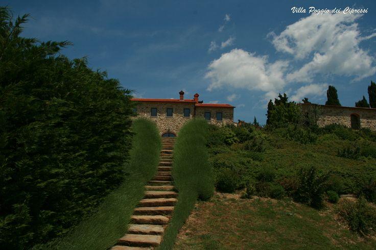 Staires of Villa Poggio dei Cipressi #Tuscany #Landscape near #Arezzo in #Casentino region  1 salvataggio