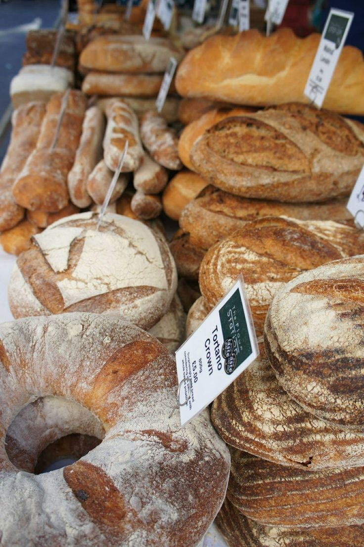 Artisan breads at the South Bank Food Festival