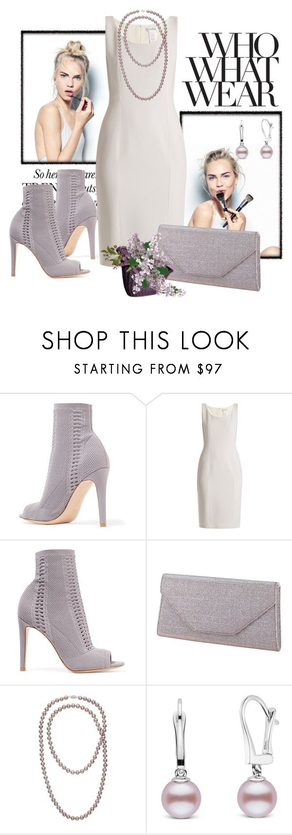 """""""Max and Mara Panaria Dress"""" by ohlmanvickie ❤ liked on Polyvore featuring Sephora Collection, Gianvito Rossi, MaxMara, Rainbow Club and Who What Wear"""