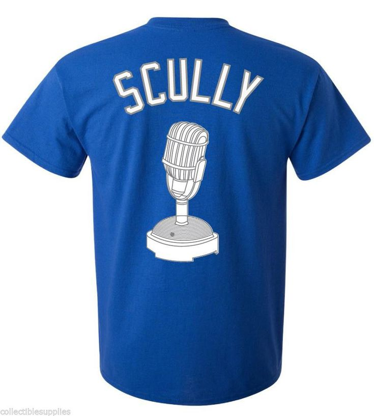 Vin Scully Los Angeles Dodgers Majestic MLB Men's T-Shirt #Majestic #LosAngelesDodgers