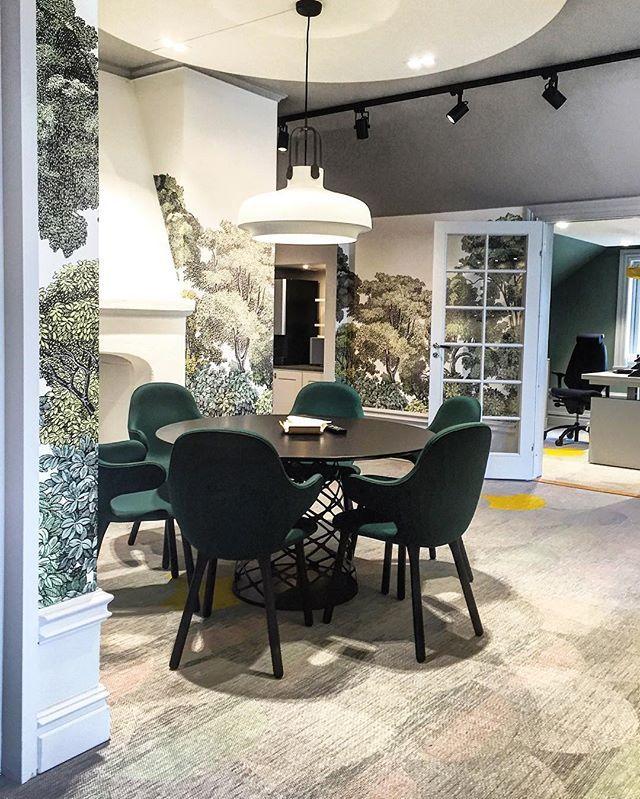 One of our latest projects, newly renovated office at Norrlandspojkarna. #norrlandspojkarna #rebelwalls #andtradition #gubi #bolon