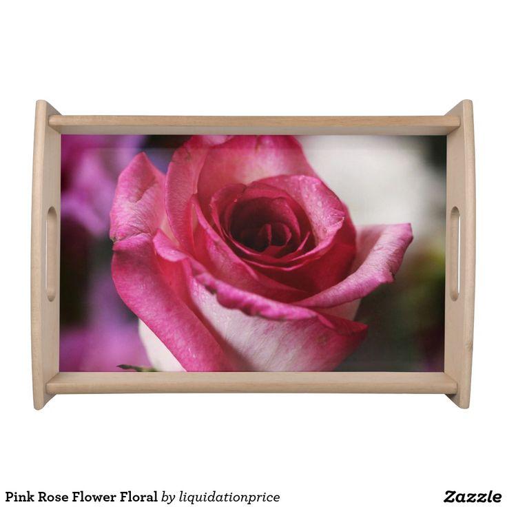 #Pink #Rose #Flower Floral Service Trays