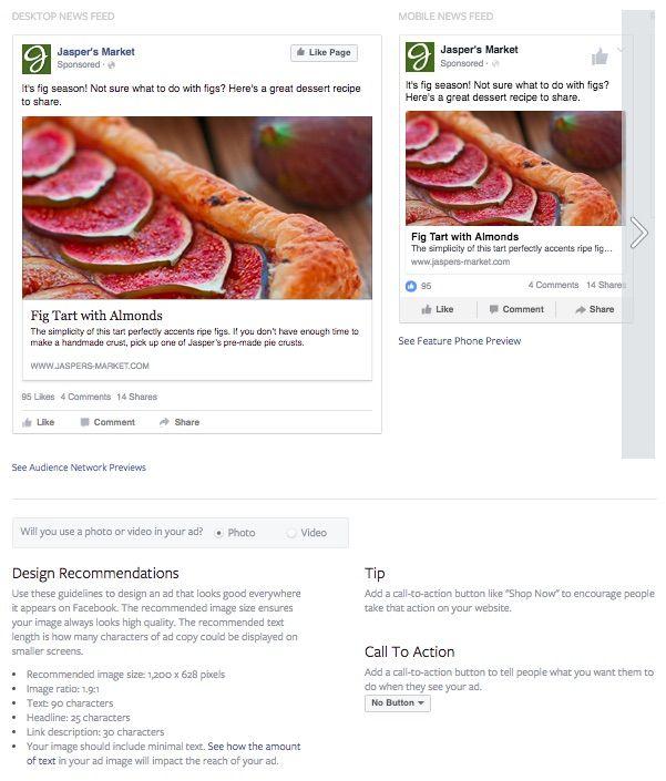 Bildgröße und Textlänge für Linkposts auf Facebook