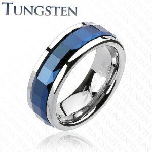 The Blue Diamond is the limited edition tungsten carbide ring from glytterati.com    Every year only 200 of these rings are made owing to the highly difficult process of bringing out the blue color in tungsten.
