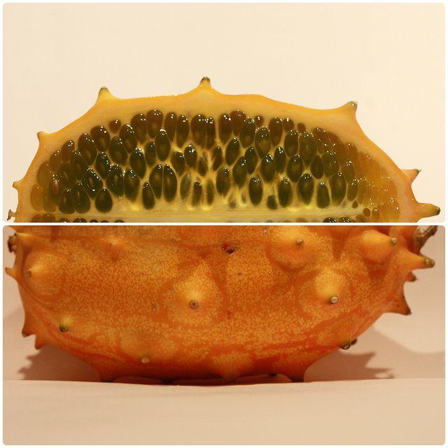 fruit seeds in horn melon by diwan, via Flickr