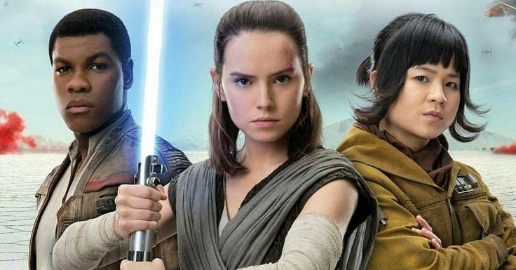 Finn, Rey and Rose Tico- Star Wars: The Last Jedi(2017)