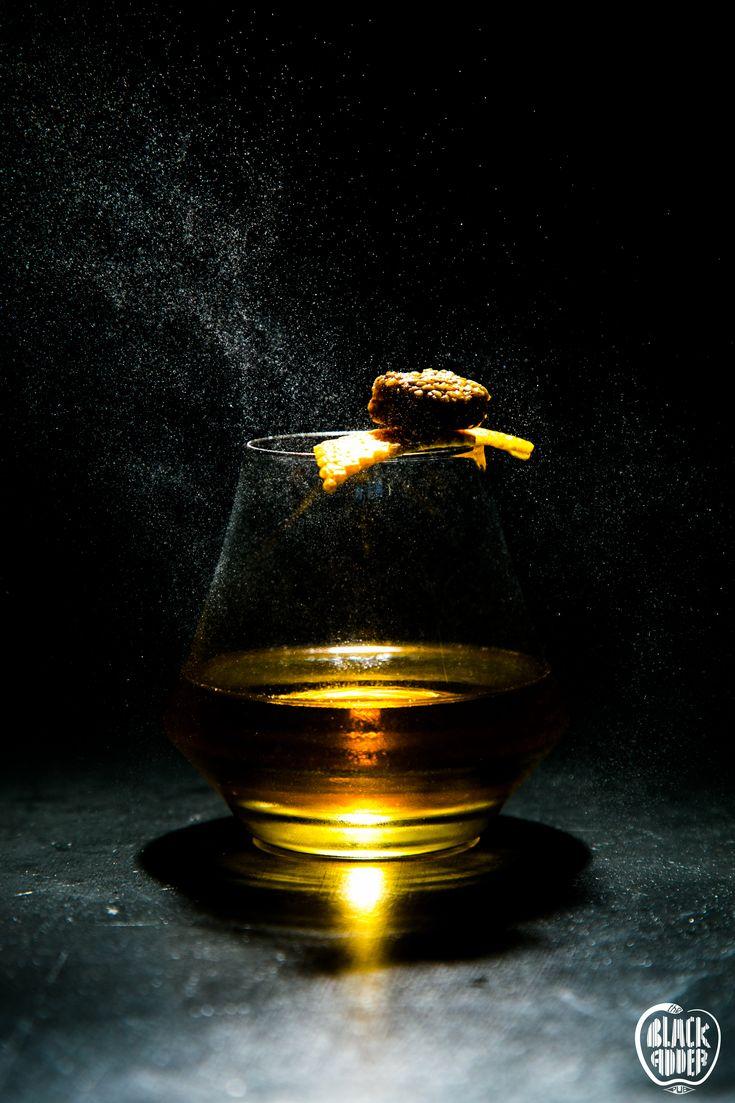 GENERAL MELCHETT Pear Cognac and Rye Whiskey, Carthusian monks liqueur, corn syrup, honey bitters / Κονιάκ με γεύση αχλάδι, ουίσκι σίκαλης, λικέρ των Γάλλων μοναχών Chartreuse, σιρόπι από καλαμπόκι και μπίτερς μελιού  Pub's New Cocktail Entry!!!  #blackaddercocktails #generalmelchett #ilovecocktails #cocktailphotography #theblackadderpub #ilovecognac #newentry #chartreuse #honeybitters #bittersincocktails #blackadder