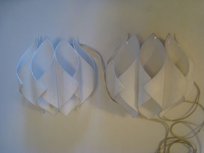 Pair Space Age 1960's Danish Modern White Light Lamp Sconces Made in Sweden | eBay