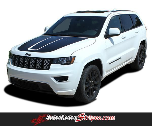 2011 2020 Jeep Grand Cherokee Trailhawk Hood Decal Trail Center Blackout Vinyl Graphic Stripes Jeep Grand Cherokee Grand Cherokee Trailhawk Jeep Grand
