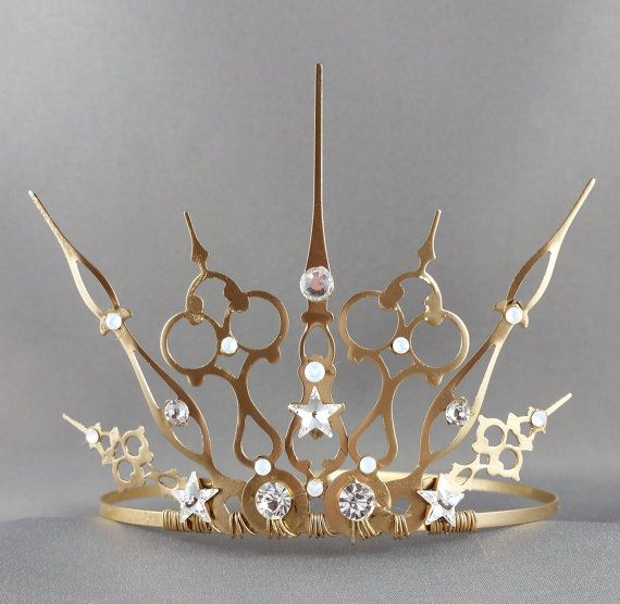 Starry Night Gothique  Star Tiara Star Crown Gold by angelyques
