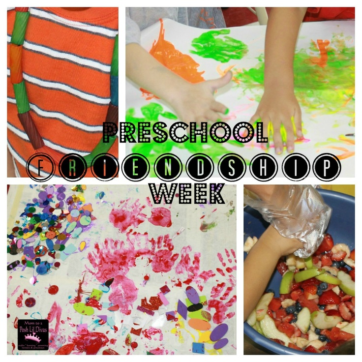 Friendship Week in Preschool from Mom to 2 Posh Lil DivasFriendship Activities, Fruit Salads, Posh Lil, Friendship Weeks, Preschool Friendship Theme, Friendship Preschool Theme, Friendship Theme For Preschool, Friendship Necklaces, Lil Divas