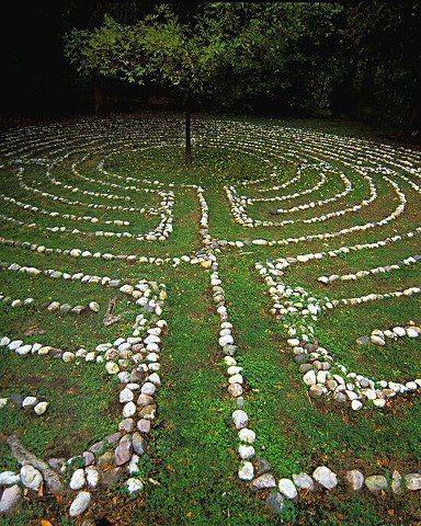 Backyard Labrynth