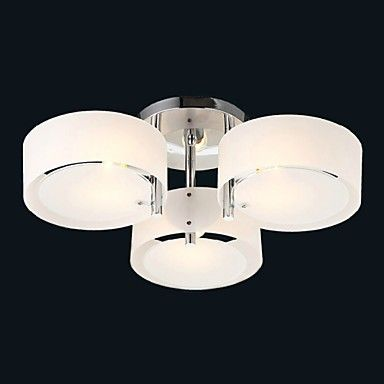 Ecolight™ Flush Mount Modern Contemporary 3 Lights Ceiling Light Kids Room Entry  Hallway  Metal