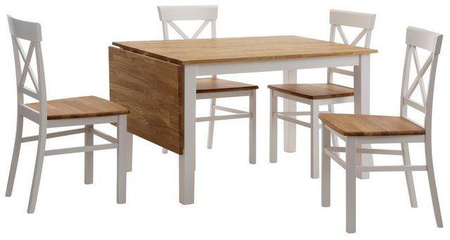 Essgruppe Set 5 Tlg Mit Ausklappbarem Esstisch Tisch