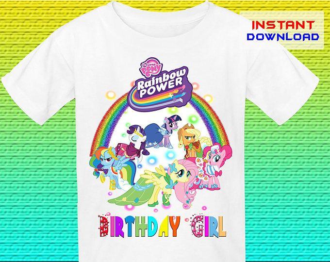 My Little Pony Birthday Shirt Iron On Transfer, Little Pony Iron On Transfer, Digital File Only, Instant Download
