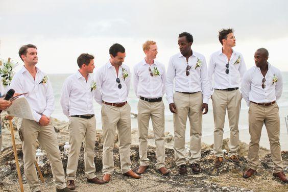 groomsmen - lighter khaki