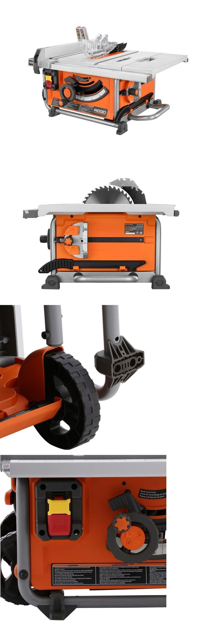Table Saws 122835: 15 Amp 10 Ridgid Table Saw Compact Heavy-Duty Bench Blade Wheels Power Tool New -> BUY IT NOW ONLY: $319.99 on eBay!