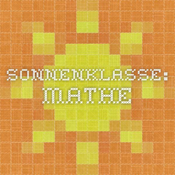Sonnenklasse: Mathe