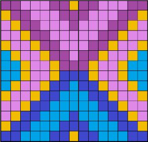 Perler bead coaster pattern by littlesymmetry.
