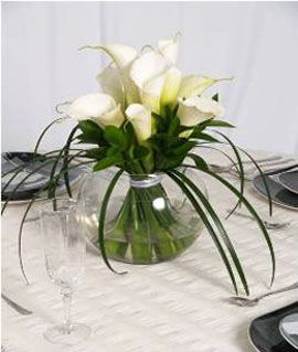 wedding centerpieces with calla lilies | Wholesale Roses > Wedding Table Centerpiece Calla Lily 3
