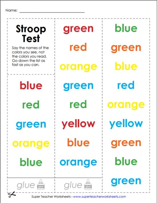 try out the stroop test this brain game challenges you to say the color of the word instead of. Black Bedroom Furniture Sets. Home Design Ideas
