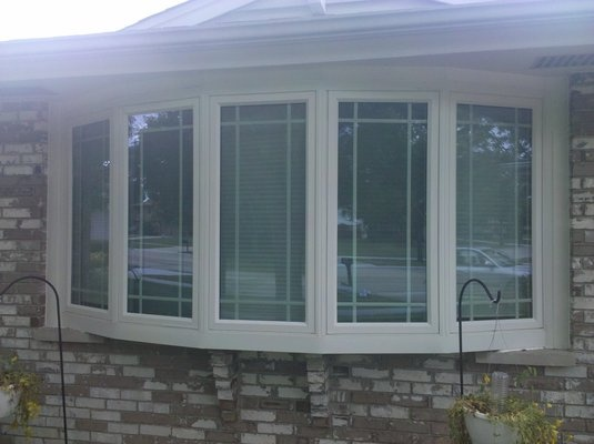 Window With Prairie Style Grids Curb Appeal Pinterest