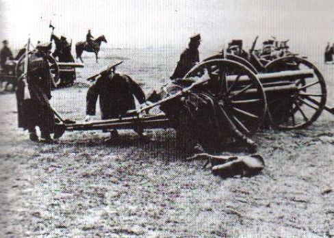 Polish horse artillery practice on their 75mm guns. Although they were outdated pieces, salvaged from the old Tzarist days, they nevertheless were moderately successful against German armor. (Sikorski Institute), pin by Paolo Marzioli