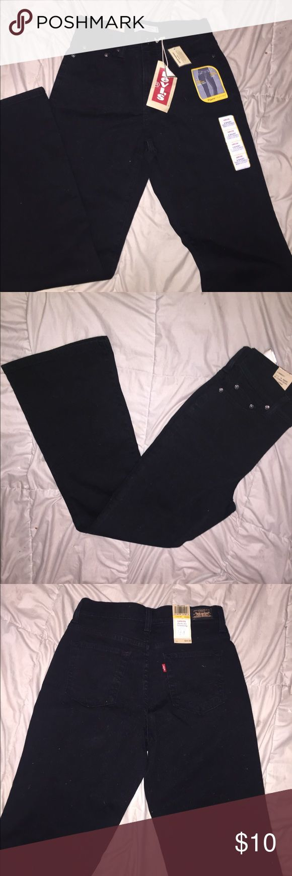 NWT Levis Bootcut Black Jeans 6 Short perfectly slimming boot cut all black levi jeans. brand new never worn. tag says $44.00, i purchased these at a yard sale for $12 and selling for $10 Levi's Jeans Boot Cut