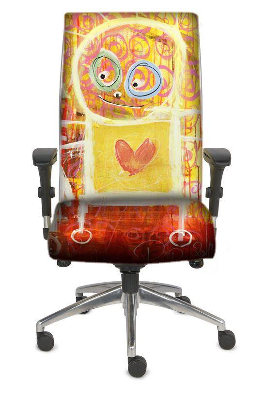 - Poul Pava office chair design. Made by BJÖRKLUND label & emballage design.