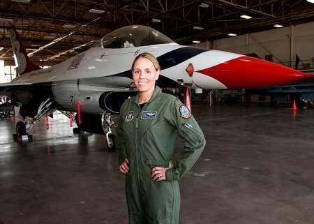 Caroline Jensen First Mother To Be A Us Thunderbirds