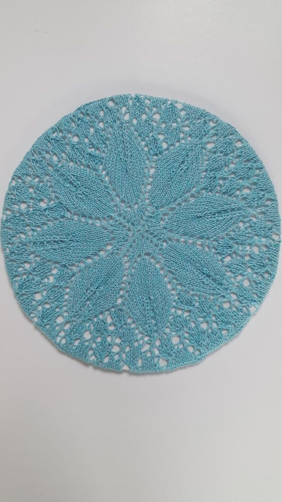 Handknit plate. Wall hanging.